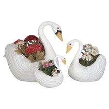 Swan Planters (Set of 3)