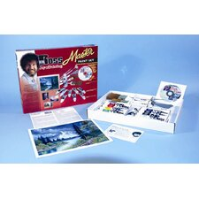 BOB ROSS MASTER PAINT SET WITH 1 HOUR DVD