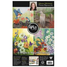 Donna Dewberry wOil Beginner Floral Painting Set with DVD