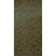 Stickers Foil Stars 3/4 Inch 175/pk