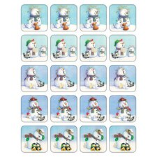 Snowmen Theme Stickers