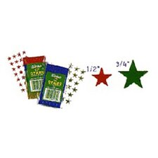 Stickers Foil Stars 1/2 Inch 250/pk