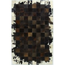 Cow Hide Chocolate Rug