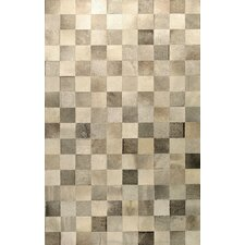 <strong>Bashian Rugs</strong> Cow Hide Grey Rug