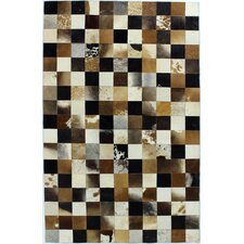 Cow Hide Multi-Colored Rug