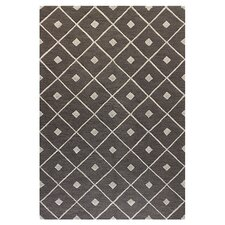 Verona Taupe Diamond Lattice Rug