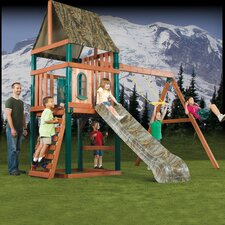 "132"" x 156"" Real Tree Woodsman Wood Complete Swing Set"