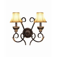 <strong>Woodbridge Lighting</strong> Harrington 2 Light Wall Sconce