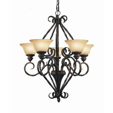 <strong>Woodbridge Lighting</strong> Rosedale 5 Light Chandelier