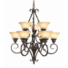 <strong>Woodbridge Lighting</strong> Rosedale 9 Light Chandelier