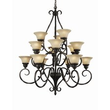 <strong>Woodbridge Lighting</strong> Rosedale 15 Light Chandelier
