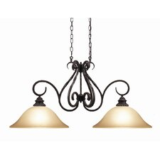 <strong>Woodbridge Lighting</strong> Rosedale 2 Light Kitchen Pendant Light