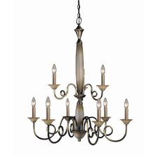 <strong>Woodbridge Lighting</strong> Mayfield 9 Light Chandelier