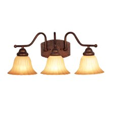 <strong>Woodbridge Lighting</strong> Morgan Park 3 Light Bath Vanity Light