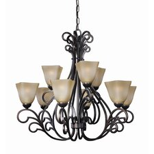 <strong>Woodbridge Lighting</strong> Palermo 9 Light Chandelier