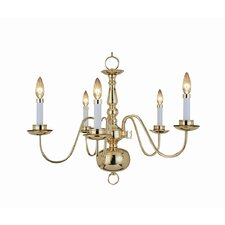 <strong>Woodbridge Lighting</strong> Williamsburg 5 Light Chandelier