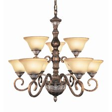 <strong>Woodbridge Lighting</strong> Worthington 9 Light Chandelier