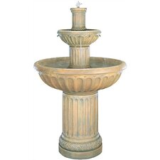 <strong>Henri Studio</strong> Tiered Cast Stone Fluted Waterfall Fountain
