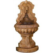 Wall Cast Stone Europe Murabella Lion Cascade Fountain