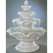 Tiered Cast Stone Quattro Classic Waterfall Fountain