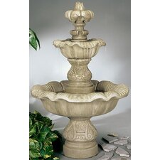 <strong>Henri Studio</strong> Two-Tier Cast Stone Renaissance Waterfall Fountain