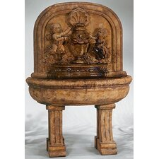<strong>Henri Studio</strong> Wall Cast Stone Grande Cherubs Lavabo Fountain