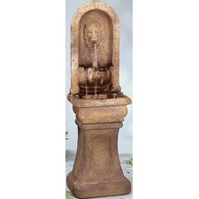 <strong>Henri Studio</strong> Tall Lion Alcove Cast Stone Cascade Fountain