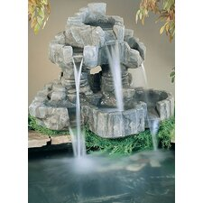 Nature Cast Stone Rock Falls Pond Ornament Fountain