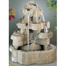 Nature Cast Stone Rock Falls Fountain
