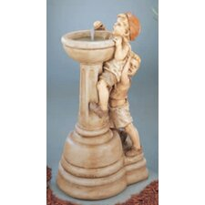 <strong>Henri Studio</strong> Figurine Cast Stone Willie and Wilma Fountain