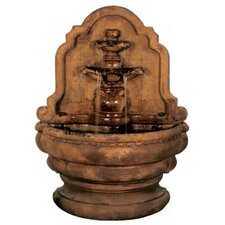 Wall Cast Stone Grand Tier-Relief Lavabo Fountain