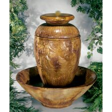 Centerpiece Cast Stone Roman Jar Fountain