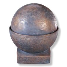Centerpiece Cast Stone Sphere Fountain