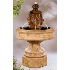 Classic Lion Stone Waterfall Fountain