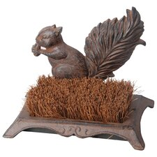 <strong>Best For Birds</strong> Boot Brush Squirrel Statue