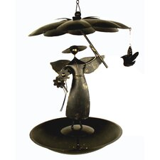 Garden Angel Flat Bottom Decorative Bird Feeder