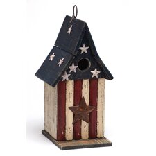 Americana Wooden Bird House