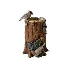 Tree Trunk Statuary / Bird Feeder