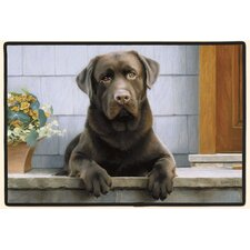 Chocolate Lab Porch Doormat