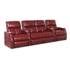 Ambassador Home Theater Bonded Leather Recliner (Row of 4)
