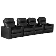 <strong>Klaussner Furniture</strong> Palace Home Theater Bonded Leather Recliner (Row of 4)
