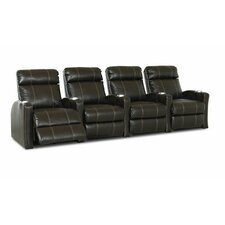 <strong>Klaussner Furniture</strong> Shubert Home Theater Bonded Leather Recliner (Row of 4)