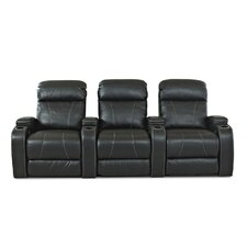 <strong>Klaussner Furniture</strong> Astor Place Home Theater Bonded Leather Recliner (Row of 3)