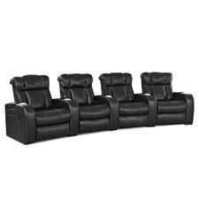 <strong>Klaussner Furniture</strong> New Amsterdam Home Theater Bonded Leather Recliner (Row of 4)
