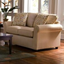 <strong>Klaussner Furniture</strong> Brighton Dreamquest Queen Sleeper Loveseat
