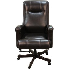 High-Back Executive Leather Office Chair
