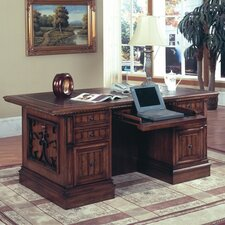 <strong>Parker House Furniture</strong> Barcelona Double Pedestal Executive Desk
