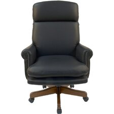 <strong>Parker House Furniture</strong> Home Office High-Back Leather Executive Chair with Nailhead Arms
