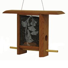 Ginko Leaves Teahouse Hopper Bird Feeder