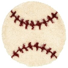 Senses Shag Baseball Kids Rug